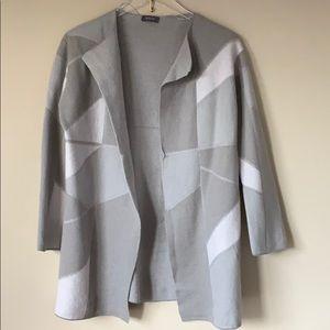 Basler Virgin Wool Open Coat Cardigan sz 38 M